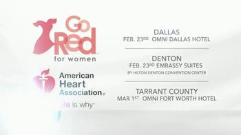 American Heart Association TV Spot, 'CBS 11: 2018 Go Red for Women' - Thumbnail 8