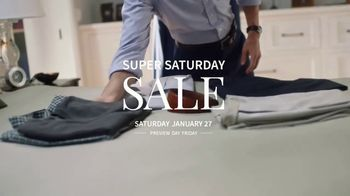 JoS. A. Bank Super Saturday Sale TV Spot, 'Clearance Items and Suits' - Thumbnail 1