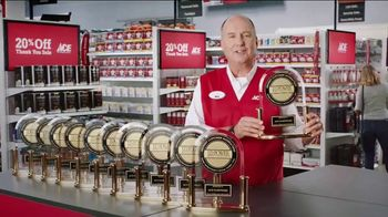 ACE Hardware Thank You Sale TV Spot, 'J.D. Power: Customer Satisfaction' - 2349 commercial airings