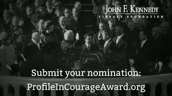 John F. Kennedy Presidential Foundation TV Spot, 'Profile in Courage Award' - Thumbnail 10