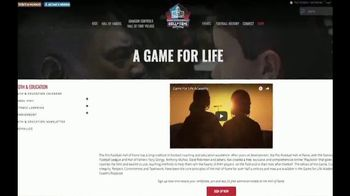 Pro Football Hall of Fame TV Spot, 'The Next Generation: Game For Life' - Thumbnail 1