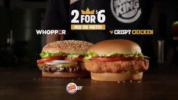 Burger King 2 for $6 Mix or Match TV Spot, 'Seeing Double' - Thumbnail 6