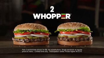 Burger King 2 for $6 Mix or Match TV Spot, 'Seeing Double' - Thumbnail 3