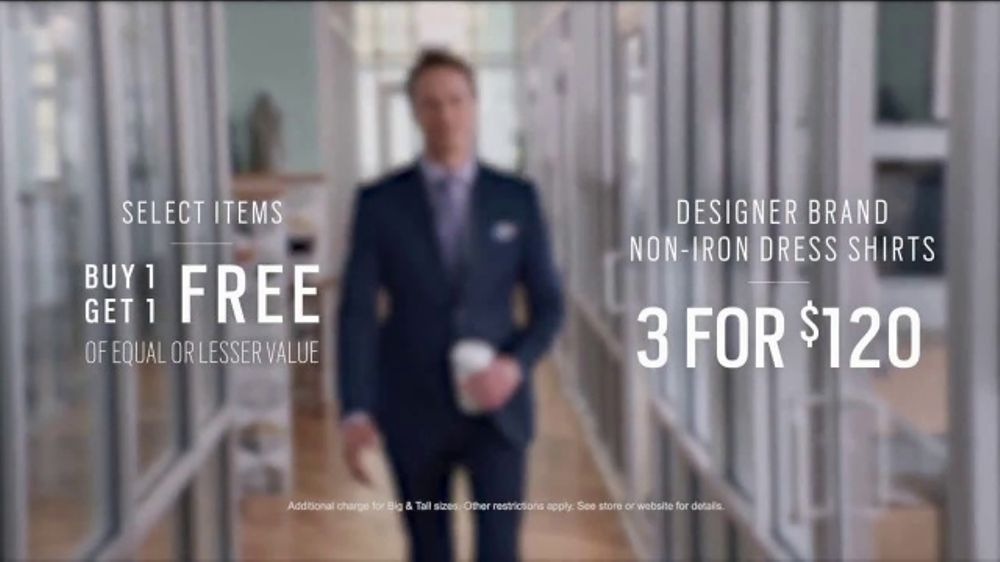 Men's Wearhouse TV Commercial, 'First Day: Non-Iron Dress Shirts'