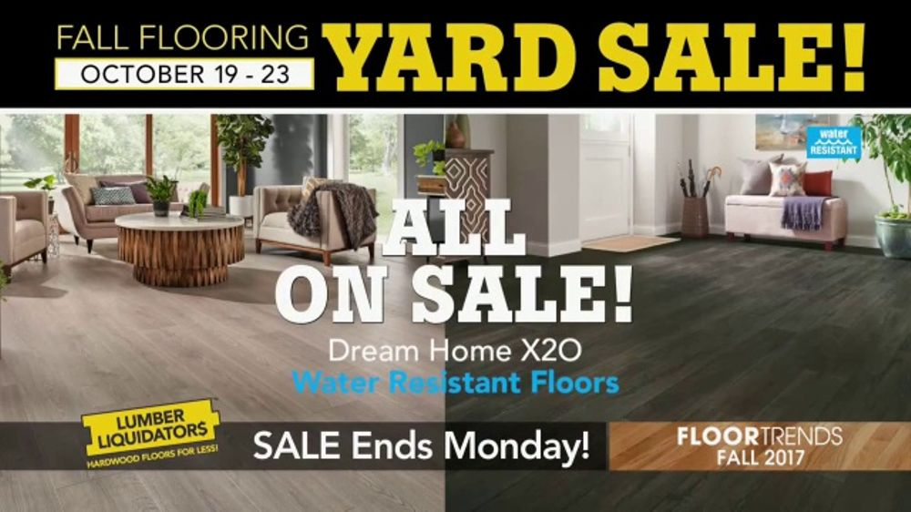 Lumber Liquidators Fall Flooring Yard Sale Tv Commercial Wood Look