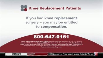 Sokolove Law TV Spot, 'Knee Replacement Patients' - Thumbnail 1
