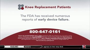 Sokolove Law TV Spot, 'Knee Replacement Patients'
