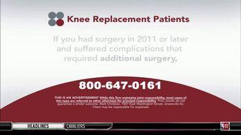 Sokolove Law TV Spot, 'Knee Replacement Patients' - Thumbnail 3
