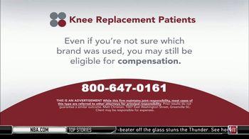 Sokolove Law TV Spot, 'Knee Replacement Patients' - Thumbnail 4