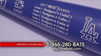 Big Time Bats TV Spot, 'Dodgers 2017 NL Champs Two Tone Bat' - Thumbnail 4