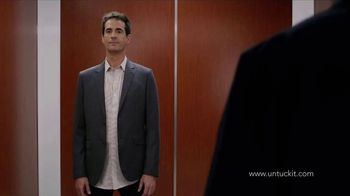 UNTUCKit TV Spot, 'Elevator: Dress Shirt' - Thumbnail 1