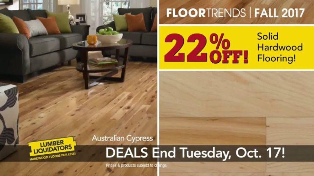 Lumber Liquidators TV Commercial, 'Fall Flooring Trends: Cypress & Maple'