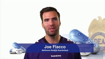 DEA TV Spot, '2017 National Prescription Drug Take Back Day' Ft. Joe Flacco - 41 commercial airings