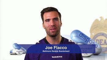 DEA TV Spot, '2017 National Prescription Drug Take Back Day' Ft. Joe Flacco - 41 commercial airings