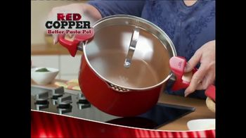 Red Copper Better Pasta Pot TV Spot, 'Time to Strain' Feat. Cathy Mitchell - 287 commercial airings
