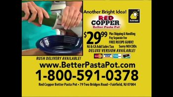 Red Copper Better Pasta Pot TV Spot, 'Time to Strain' Feat. Cathy Mitchell - Thumbnail 10