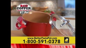 Red Copper Better Pasta Pot TV Spot, 'Time to Strain' Feat. Cathy Mitchell - Thumbnail 7