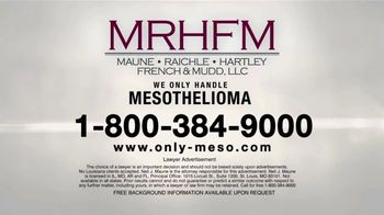 MRHFM Law Firm TV Spot, 'Only Meso' - Thumbnail 5