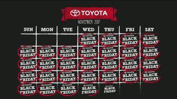Toyota Black Friday(s) Sales Event TV Spot, 'Calendar' [T1] - Thumbnail 3
