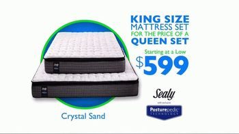 Rooms to Go Mattress Month TV Spot, 'King for a Queen Price' - Thumbnail 3