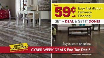 Lumber Liquidators Cyber Week Sale TV Spot, 'Get It Done'