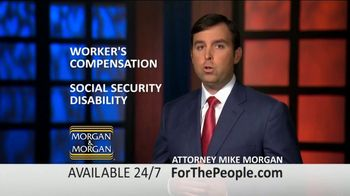 Morgan and Morgan Law Firm TV Spot, 'Permanent Disability Benefits' - Thumbnail 4