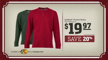 Bass Pro Shops Countdown to Christmas Sale TV Spot, 'Henley, Jacket & Reel' - Thumbnail 7