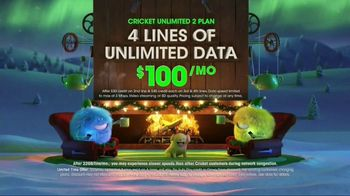 Cricket Wireless Unlimited 2 Plan TV Spot, 'Holiday Magic: LG Fortune'
