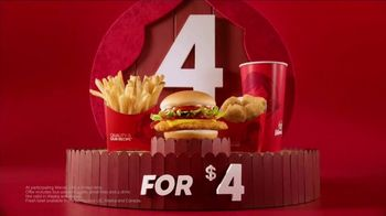 Wendy\'s 4 for $4 TV Spot, \'Double Stack Cheeseburger Is Back\'